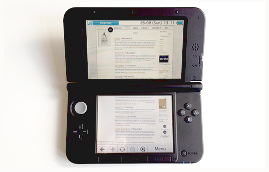 The A List Apart website as viewed on a Nintendo 3DS XL. Image © A List Apart